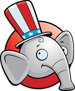 Republican Elephant - stock illustration