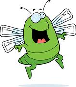 Dragonfly Jumping Stock Illustration