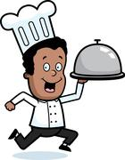 Chef Delivery Stock Illustration