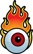 Flaming Eyeball - stock illustration