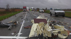 Highway accident 7 Stock Footage