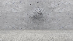 Broken Concrete Wall with Background - stock footage