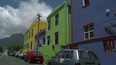 Colourful street,Capetown Stock Footage