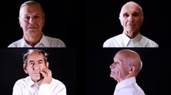 Senior men collage Stock Footage