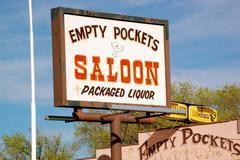 arizona - empty pockets saloon - stock photo