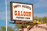 Stock Photo of arizona - empty pockets saloon