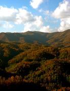 asheville north carolina mountains - stock photo