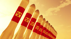 4K Nuclear Rockets 1 Stock Footage