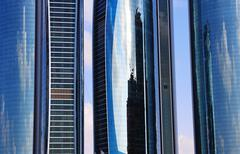 skyscrapers in abu dhabi, united arab emirates - stock photo
