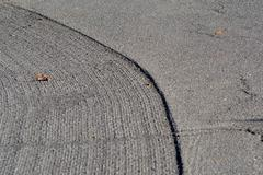 Roadwork: Grooved Pavement Stock Photos