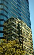 Austin building reflection-1 Stock Photos
