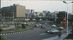 Traffic Circle CAIRO EGYPT Street Scene 1970s Vintage 8mm Film Home Movie 7371 Stock Footage