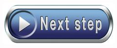 Next step button Stock Illustration