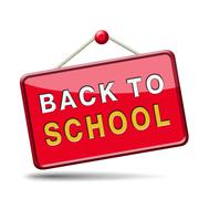 back to school - stock illustration