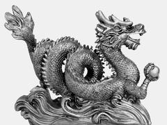 Chinese dragon for luck Stock Photos