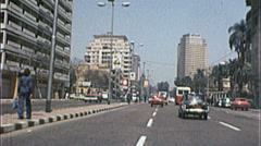 URBAN Downtown CAIRO EGYPT Street Scene 1970s Vintage 8mm Film Home Movie 7372 Stock Footage