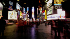NYC Times Square Time Lapse - 4K Stock Footage