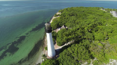 Lighthouse Aerial Stock Footage