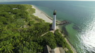 Stock Video Footage of Lighthouse Aerial