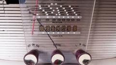 Vintage radio transistor  Stock Footage