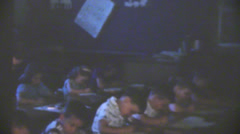 Stock Video Footage of vintage  movies, 1957  class room