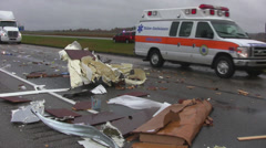 Highway accident 11 Stock Footage