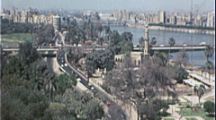 CAIRO EGYPT SKYLINE Cityscape 1970s Vintage Film Home Movie 7377 Stock Footage