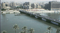 CAIRO EGYPT SKYLINE Cityscape NILE 1970s Vintage Film Home Movie 7378 Stock Footage