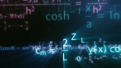 Colorful maths formulas with motion blur effect Stock Footage