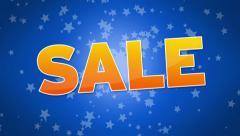 Sale Advertisement Stock Footage