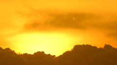Sunset and cloud - stock footage