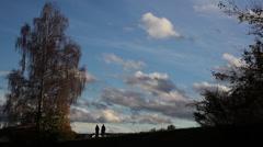 Walking Path near Aare River Stock Footage