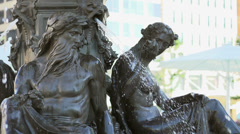 Brewer Fountain in downtown Boston Stock Footage