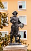 velaquez painter statue triana seville andalusia spain - stock photo
