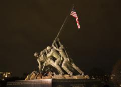 the marine corps war memorial washington dc - stock photo