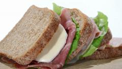 Big sandwich Stock Footage