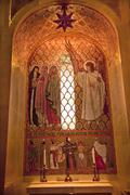 Angel mosaic shrine of immaculate conception inside washington dc Stock Photos