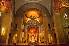 shrine of immaculate conception insides washington dc - stock photo