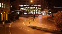 Evening time traffic of Winterthur Stock Footage