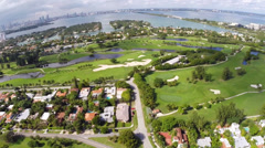 Aerial footage of the Miami Beach Country club Stock Footage