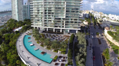 Miami highrise Condos Stock Footage