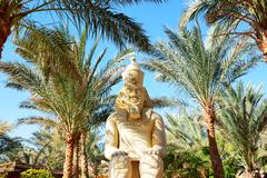 Outdoor decoration with pharaoh statue at the luxury hotel, sharm el sheikh, Stock Photos