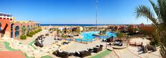 Stock Photo of panorama of the beach at luxury hotel, sharm el sheikh, egypt