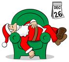 Stock Illustration of santa claus after work