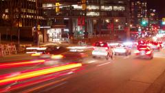 Time Lapse - Long exposure traffic in Vancouver - stock footage