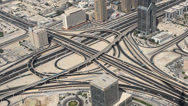 Stock Video Footage of city traffic of Dubai from the tallest building in the world, Burj Khalifa