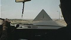 GREAT PYRAMIDS of Egypt Giza Egyptian 1980s Vintage Film Home Movie 7388 Stock Footage
