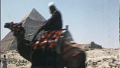 Camel Great PYRAMIDS of Egypt Giza Egyptian 1980s Vintage Film Home Movie 7389 - stock footage