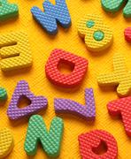 Alphabet and numbers Stock Photos