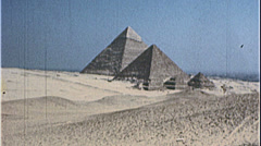 GREAT PYRAMIDS of Egypt Giza Egyptian 1980s Vintage Film Home Movie 7390 - stock footage